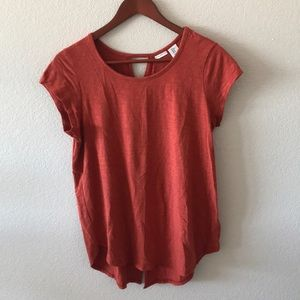 Max studio burnt orange short sleeve blouse